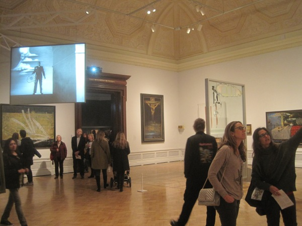 Installation view of Dalí / Duchamp