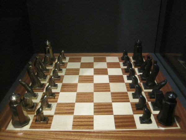 Chess set for Marcel Duchamp by Salvador Dalí