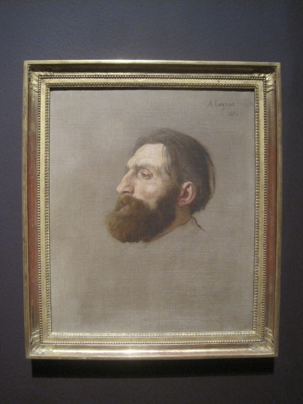 Portrait of Rodin (1882) by Alphonse Legros