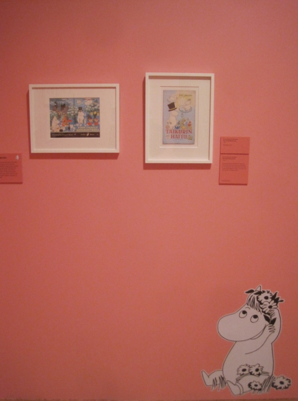 Installation view of Tove Jansson at Dulwich Picture Gallery