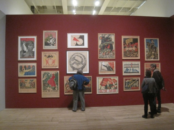 Installation view of Red Star over Russia at Tate Modern