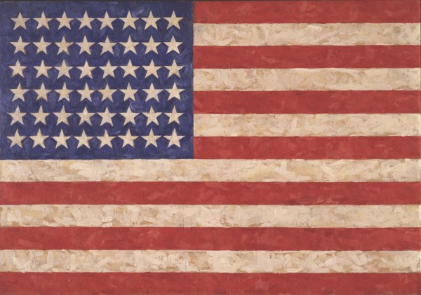 Flag (1958) by Jasper Johns. Encaustic on canvas. © Jasper Johns/VAGA, New York/DACS, London 2017. Photo Jamie Stukenberg © The Wildenstein Plattner Institute, 2017
