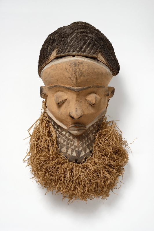 Muyombo mask, Pende region, Democratic Republic of the Congo, 19th-early 20th century.Photograph by Jean-Louis Losi