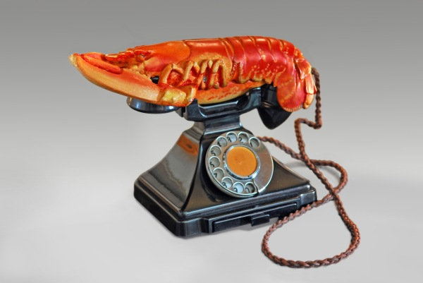 Lobster Telephone (1938) by Salvador Dali and Edward James. Photo by West Dean College, part of Edward James Foundation/© Salvador Dali, Fundacia Gala-Salvador Dali, DACS 2017