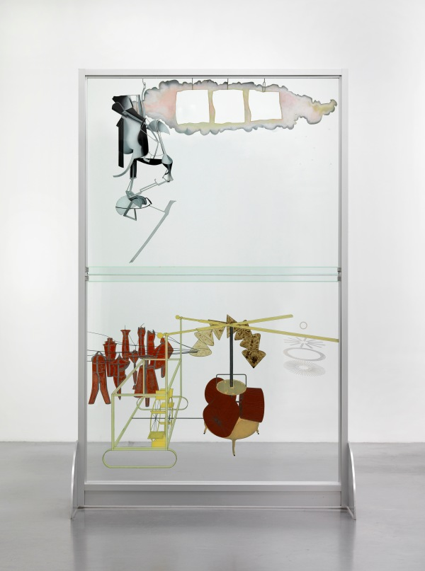 The Bride Stripped Bare by Her Bachelors, Even (The Large Glass) (1915, 1965-6 and 1985) by Marcel Duchamp (reconstruction By Richard Hamilton) Photo © Tate, London, 2017/© Succession Marcel Duchamp/ADAGP, Paris and DACS, London 2017