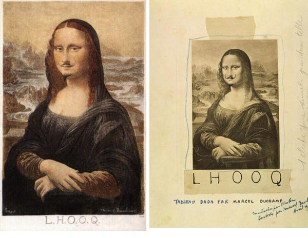 L.H.O.O.Q. by Marcel Duchamp (1919)