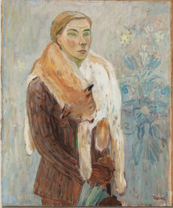 Lynx Boa (Self-Portrait) (1942) by Tove Jansson. Photo: Finnish National Gallery/Yehia Eweis © The Estate of Tove Jansson