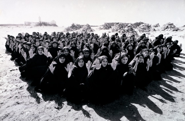 Still from Rapture (2000) by Shirin Neshat