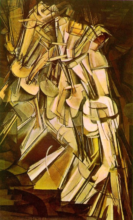 Nude descending a staircase number 2 (1912)