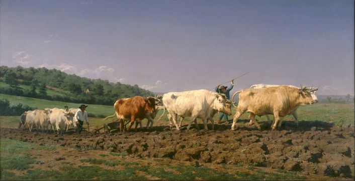 Ploughing in the Nivernais (1849) by Rosa Bonheur