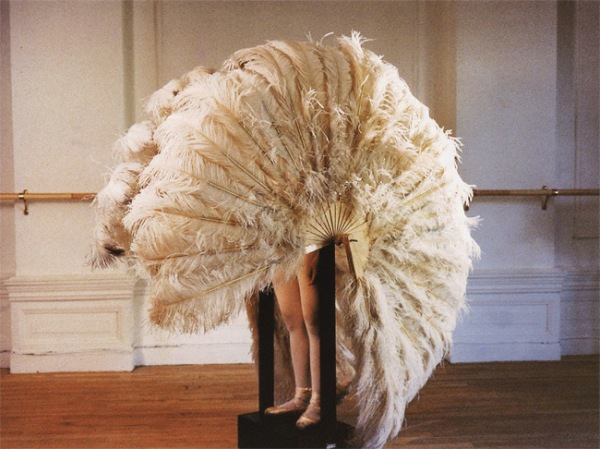 The Feathered Prison Fan ( 1978) by Rebecca Horn