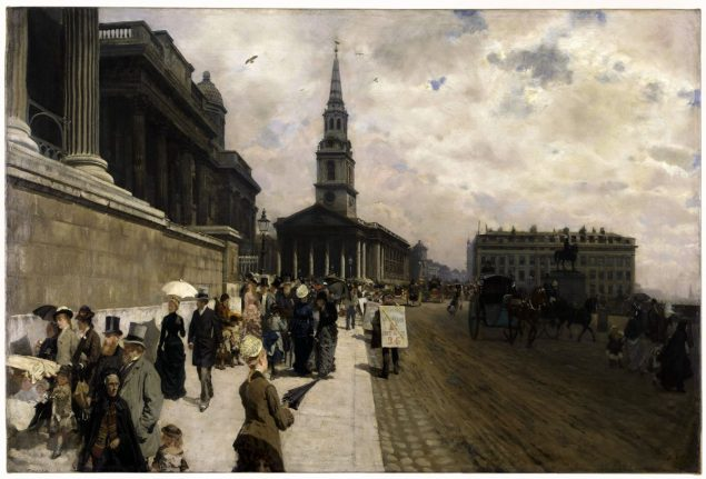St Martin-in-the-Fields and the National Gallery (1846 – 1884) by Giuseppe De Nittis
