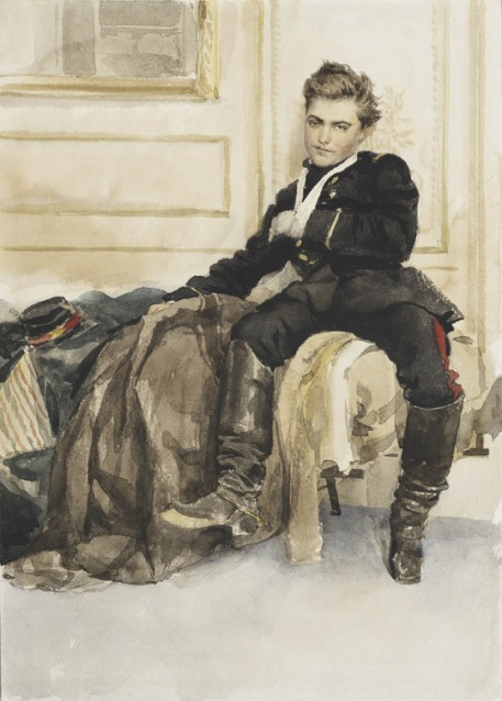 The wounded soldier (1870) by James Tissot