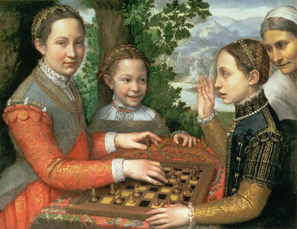 Three Sisters playing chess (1555) by Sofonisba Anguissola