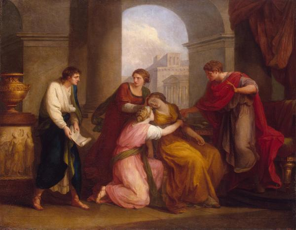 Virgil reading the Aeneid to Augustus and Octavia (1788) by Angelica Kauffman