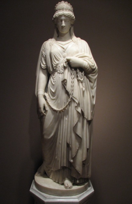 Zenobia in Chains (1859) by Harriet Hosmer