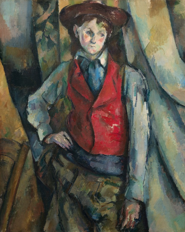 Boy in a Red Waistcoat (1888-90) by Paul Cézanne, National Gallery of Art, Washington D.C.