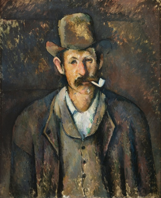 Man with Pipe (1891-6) by Paul Cézanne. The Courtauld Gallery, London