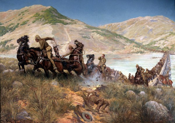 Buller's Final Crossing of the Tugela, February 1900 by Georges Bertin Scott (1900)