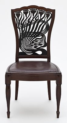Chair by Arthur Heygate Mackmurdo (1883)