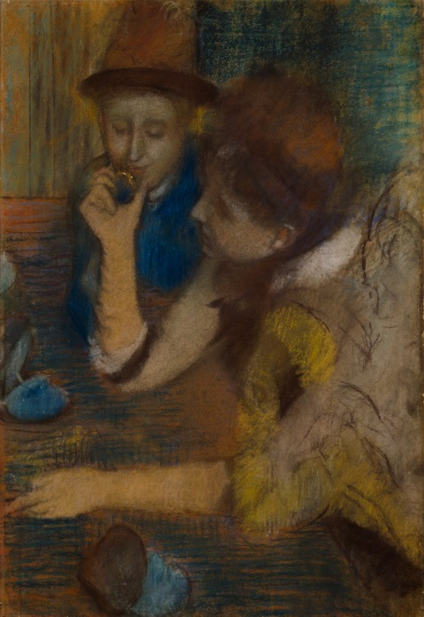 At the Jewellers(1887) by Hilaire-Germain-Edgar Degas. Pastel on paper © CSG CIC Glasgow Museums Collection