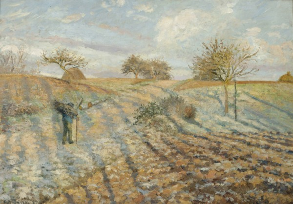 Hoarfrost (1873) by Camille Pissarro