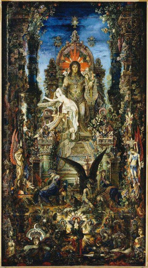Jupiter and Semele by Gustave Moreau (1895)