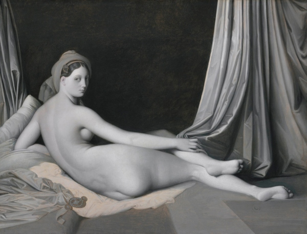 Odalisque in Grisaille (1824-34) by Jean-Auguste-Dominique Ingres and workshop © The Metropolitan Museum of Art / Art Resource / Scala, Florence