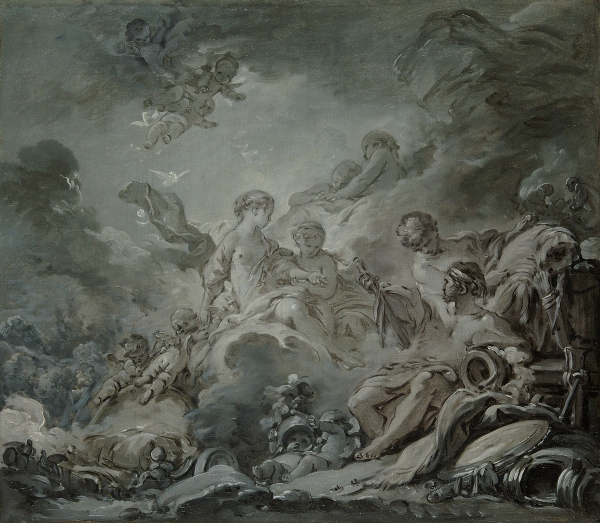 Vulcan's Forge (Vulcan presenting Venus with Arms for Aeneas) (1756) by François Boucher © Paris, Les Arts Décoratifs / Jean Tholance