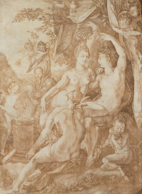Without Ceres and Bacchus, Venus Would Freeze (1606) Hendrick Goltzius © The State Hermitage Museum, 2017 / Photo: Vladimir Terebenin