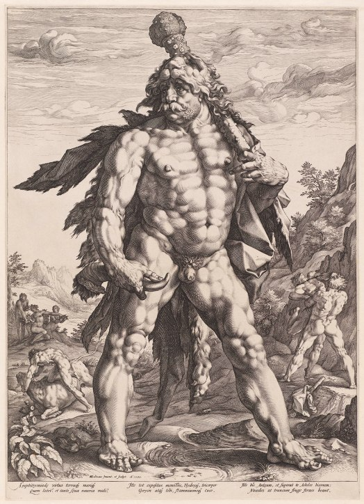 The Great Hercules (1589) by Hendrik Goltzius © Museum Boijmans Van Beuningen, Rotterdam. Photographer: Studio Buitenhof, The Hague