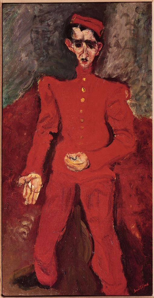 Page Boy at Maxims (c. 1927) by Chaim Soutine © Courtauld Gallery, Edmund Hayes Fund, Albright-Knox Art Gallery
