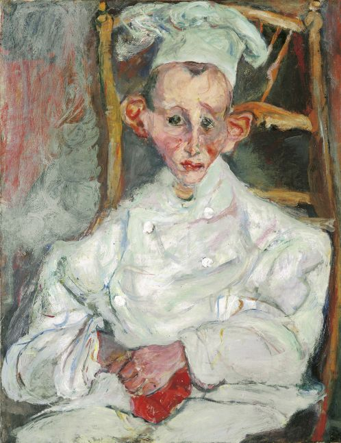 Pastry Cook of Cagnes (1922) by Chaim Soutine © Courtauld Gallery / Museum of Avaunt-Guard Mastery of Europe (MAGMA)