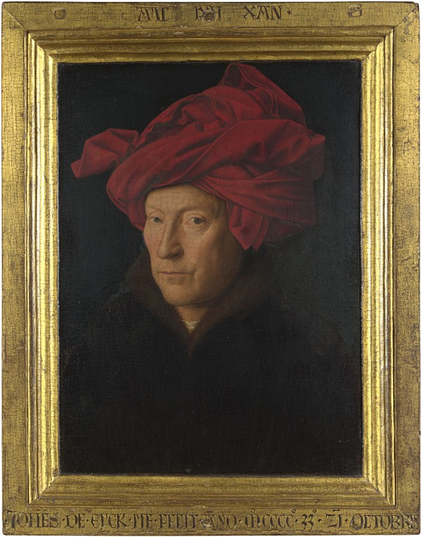 Portrait of a Man (Self Portrait) (1433) by Jan van Eyck © The National Gallery, London