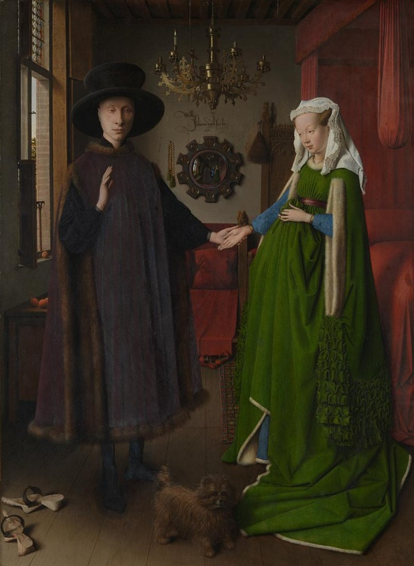 Portrait of Giovanni Arnolfini and his Wife (1434) by Jan van Eyck