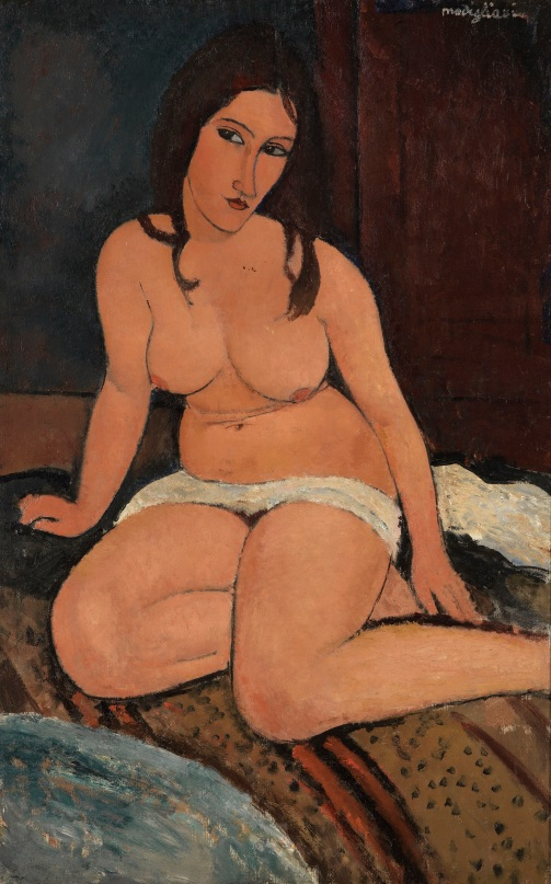 Seated Nude (1917) Royal Museum of Fine Arts Antwerp, Lukasart in Flanders. Photo credit: Hugo Maertens