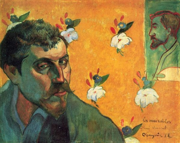 Self-portrait with portrait of Bernard (1888) by Paul Gauguin