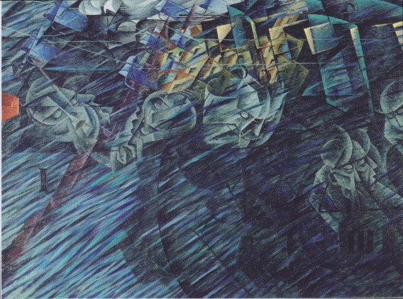 States of Mind - Those who go by Umberto Boccioni (1911)