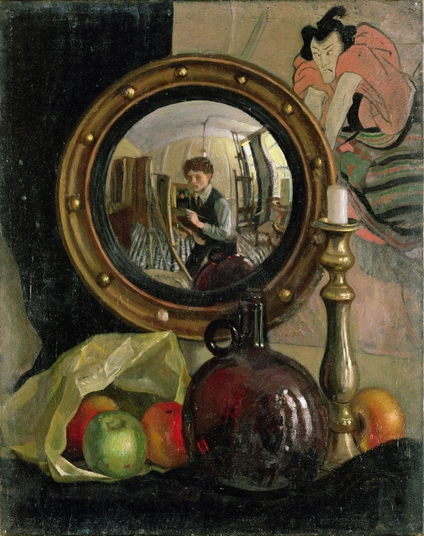 Still Life with Self-Portrait (1918) by Mark Gertler © Leeds Museums and Galleries (Leeds Art Gallery) U.K. Bridgeman Images