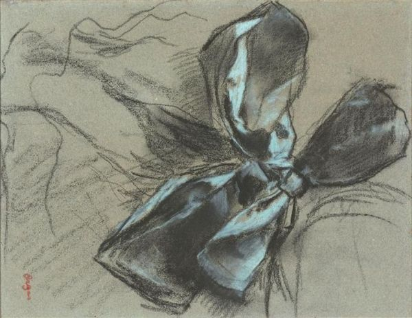 Study of a ribbon (1882) by Degas
