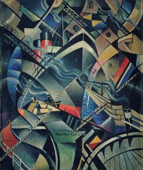 The Arrival by Christopher Richard Wynne Nevinson (c.1913)