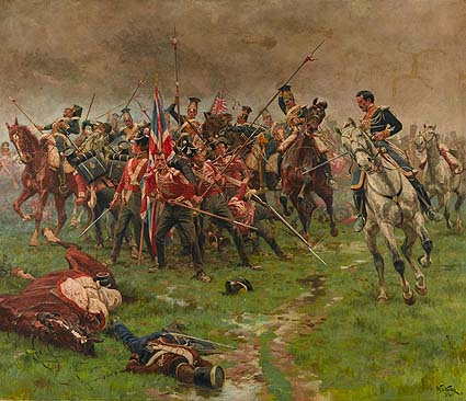 The Flag, Albuhera, May 16, 1811, by William Barnes Wollen (1912) © National Army Museum
