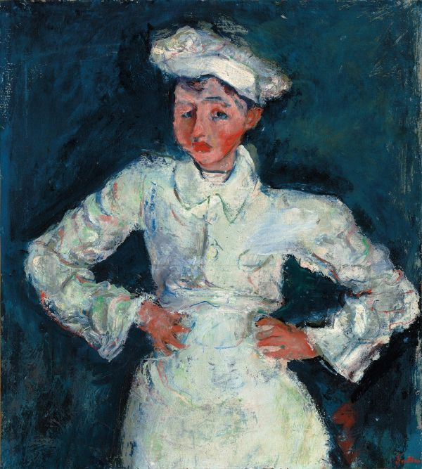 The Little Pastry Cook (Le Petit Pâtissier) 1927 by Chaim Soutine © Courtauld Gallery, The Lewis Collection.