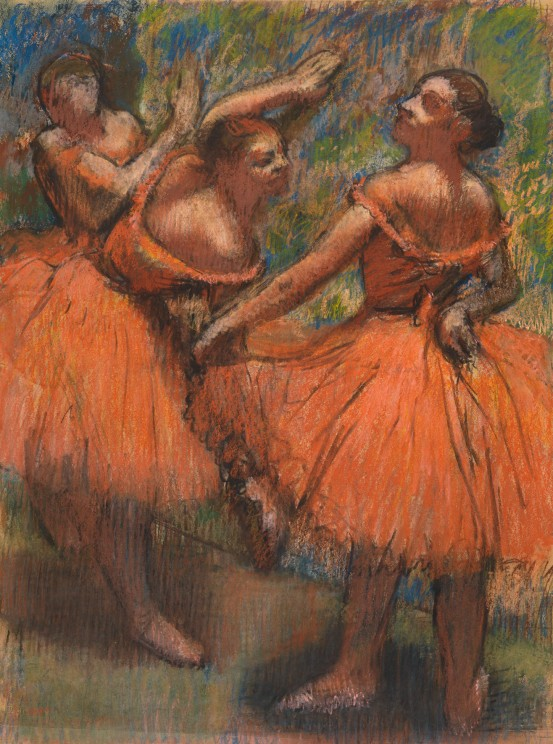 The Red Ballet Skirts (1900) by Hilaire-Germain-Edgar Degas. Pastel on tracing paper © CSG CIC Glasgow Museums Collection