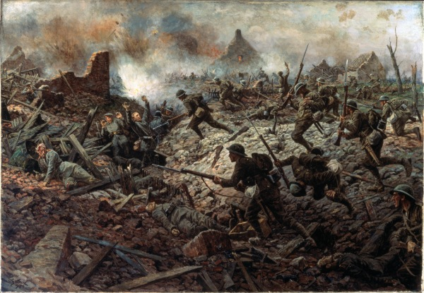 The Territorials at Pozières, 23 July 1916 by William Barns Wollen © National Army Museum