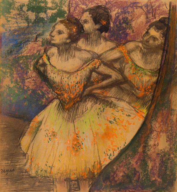 Three Dancers (1900-5) by Hilaire-Germain-Edgar Degas. Pastel on tracing paper © CSG CIC Glasgow Museums Collection