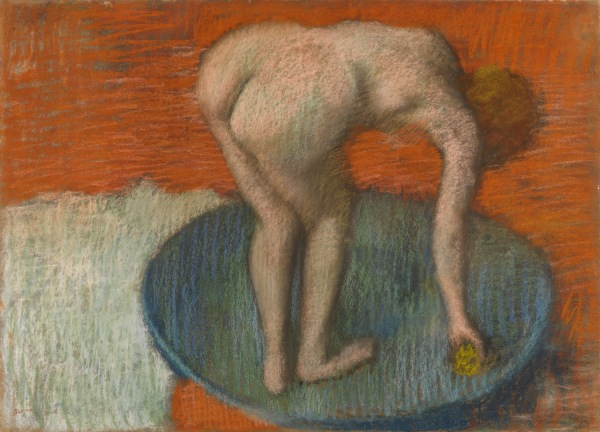 Woman in a Tub (1896-1901) by Hilaire-Germain-Edgar Degas. Pastel on paper © CSG CIC Glasgow Museums Collection