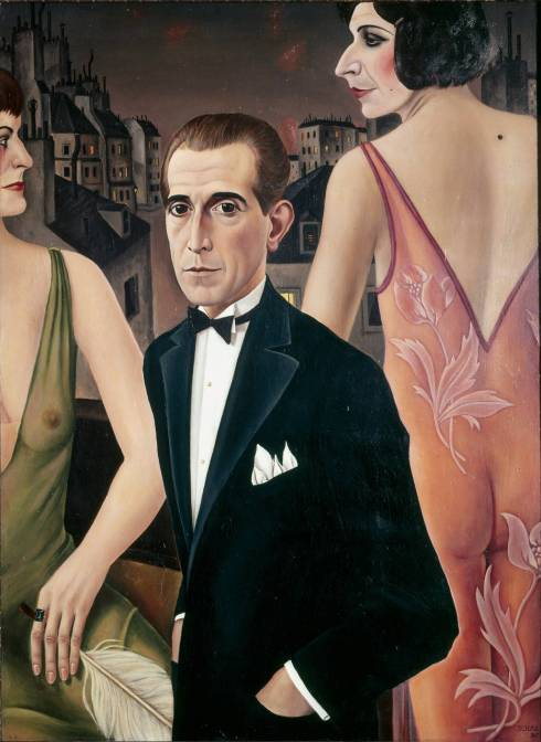 Count St. Genois d'Anneaucourt by Christian Schad (1927)