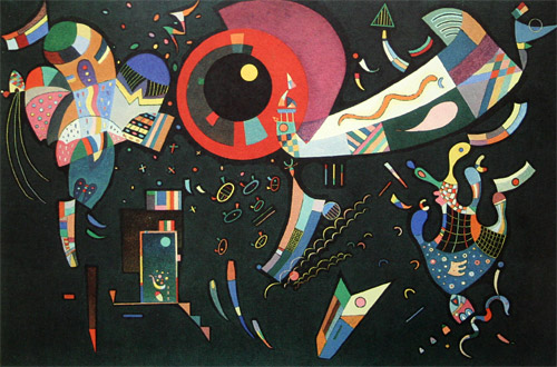 Around the Circle by Wassily Kandinsky (1940)