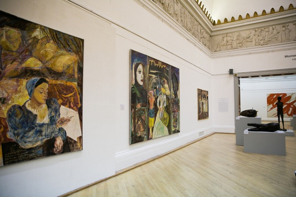 Installation shot of paintings by Sandra Blow. Photo by Lisa Whiting